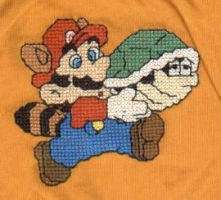 Mario Cross Stitch Shirt by Krissay20
