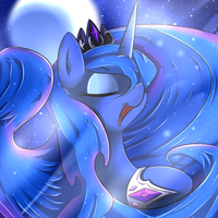 Luna under the moon by Madacon