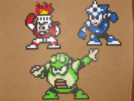 Megaman bead bosses 3 by zaghrenaut