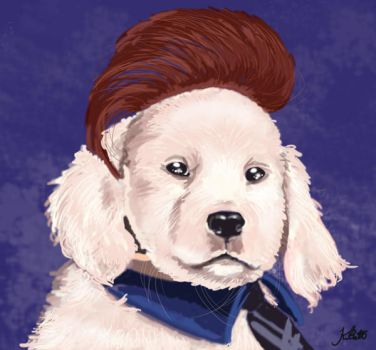 Puppy Conan by kristeny