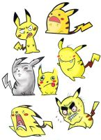 pikachu weird faces by great-teacher-yota