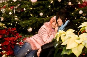 a little late X-mas Picture SasuSaku by oOoNaruto-chanoOo