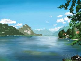 Swiss lake by Wktr