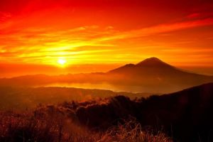 mountain lanscape indonesia by saos12