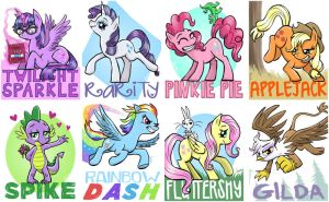 Pony badges by Pedantia