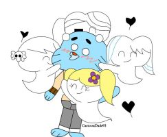 Commission: Cuddly Ghosts by CartoonDude95
