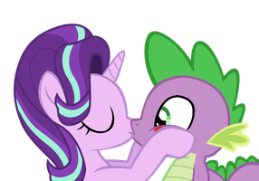 spikeglimmer kiss (part 2, after cheeks) by nejcrozi
