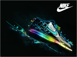 Nike Trainer Wallpaper by SadiqAhmed123