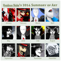 Summary of Art 2014 by ShadowsNeko
