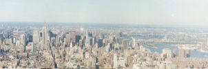 Manhattan from the World Trade by Arisingdrew