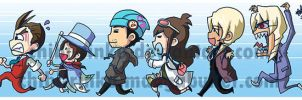 Apollo Justice Line Bookmark by BettyKwong