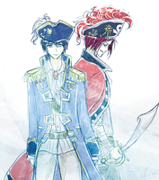 Pirate!AU - Rinharu by FimbulvetrIce