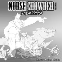Norsechowder Volume 3 Pigmaleon Cover Drawing by NorseChowder