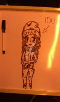 I drew my Sister on the bus XD by Albme94