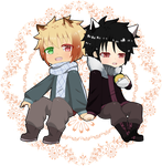 Chibi - Kito and Akame by cora83
