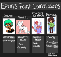 Cheapish Point Commission Info (OPEN) by Ezun