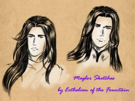 Maglor: Sketches by EcthelionF