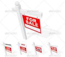Top View of Real Estate Signs by DXC381
