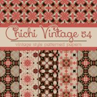 Free Chichi Vintage 54 Patterned Papers by TeacherYanie