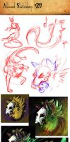 Sketchdump #20 by Ahkward