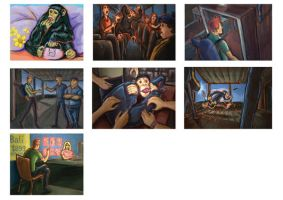 The Escape storyboard by Dreee
