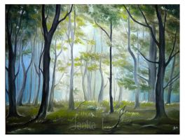 Morning in the Forest by JankaLateckova
