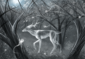Deer spirit :speed paint: by Eddie-Ka