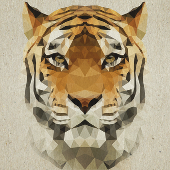 Polygon Collection - Tiger by Enttei