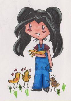 Blaknite with chickens by Tarelgal