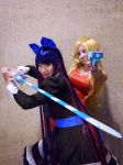 Anarchy Panty and Stocking, Fighting Duo Cosplay by firecloak