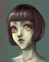 young lady portrait by Linebine