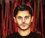 Portrait drawing of Zac Efron by Previsha