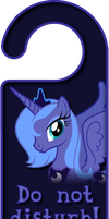 Season 1 Princess Luna Door Knob Hanger by Thorinair