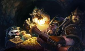 The treasures of the dwarf by zhuyukun