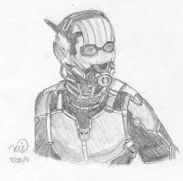 Ant-Man Sketch by Invisiperson