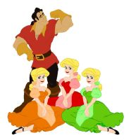Gaston and the Bimbettes by princERICharming