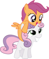 Scootaloo and Sweetie Belle Vector by ArtPwny