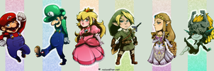 Nintendo: Bookmark Illust by karniz