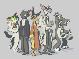 Cat people by feathergills