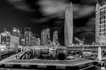 Dubai Marina B and W by vinayan
