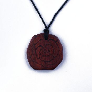 Blood Wood Rose Necklace by WoodsyAccents