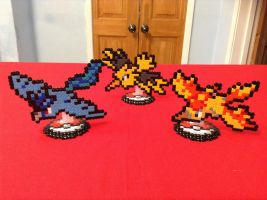 Pokemon: The Ledgendary Birds- Hama Designs by Dogtorwho