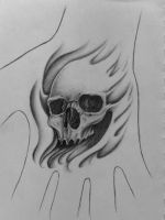 Hand Skull by 814CK5T4R