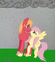 Fluttermac in the rain by some-pegasister