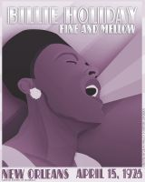 Billie Holliday - Art Deco by DP16