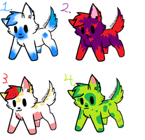 ADOPTABLES! 3/4 open! by Blind-Magpie