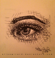 It's a drawing of an eye I think by OdieFarber