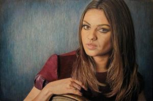 Mila Kunis Portrait by CuriousGeorge43545