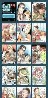 Official Archer Sketchcards by ChaosKomori