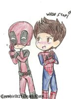 Spideypool Dolls by ThePastelHobbit